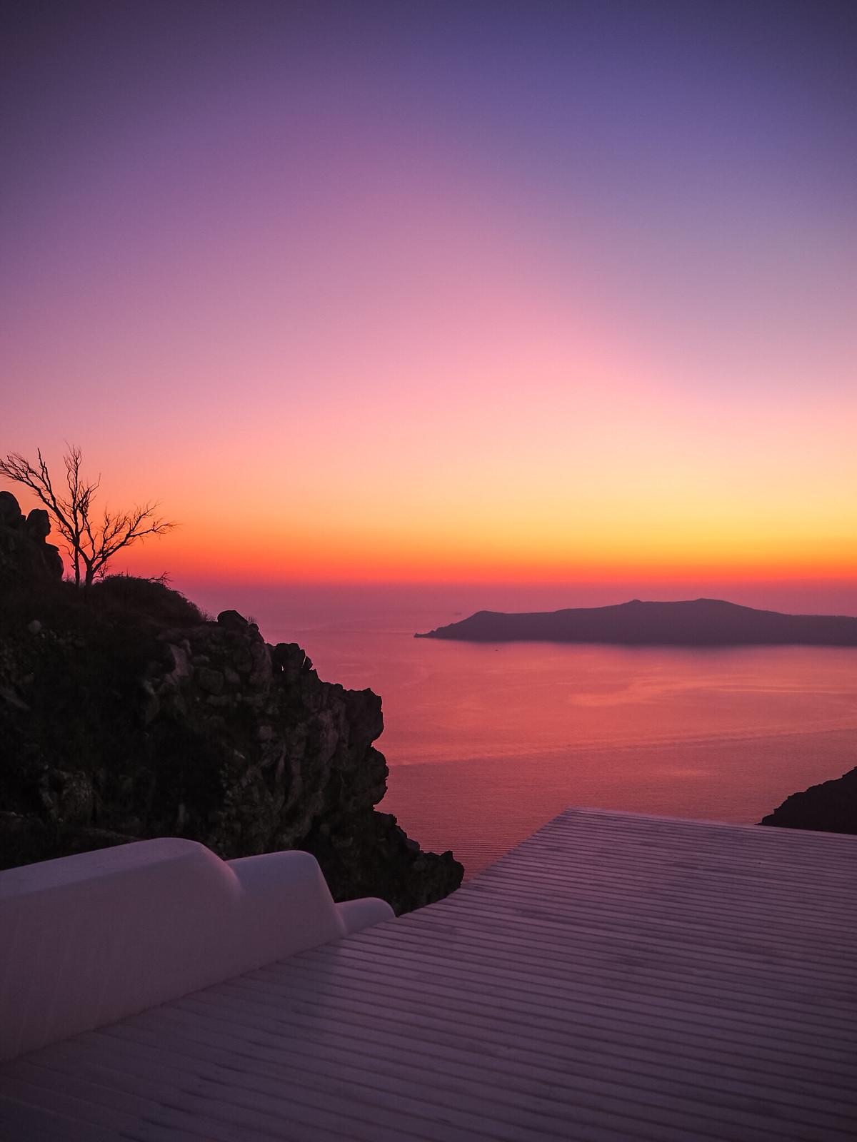 Auringonlasku Santorini