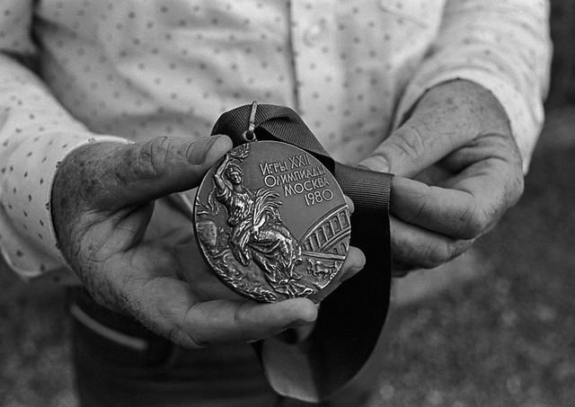 Hugh Russell Olympic Medal