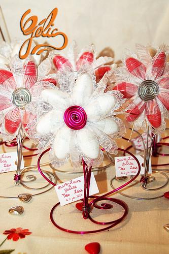 Fleur de dragées sur pied (20g) 4,20€