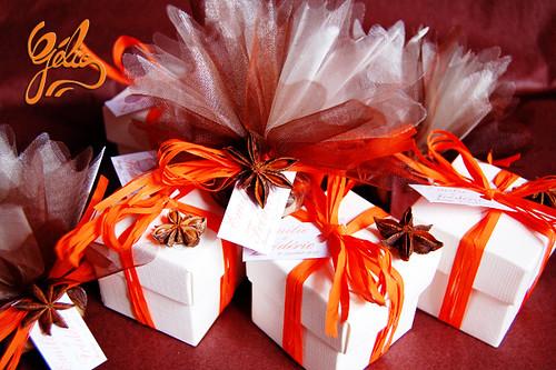 Boîte cube carton 8 guimauves 3,05€ avec décor