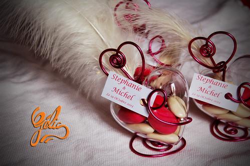 Coeur (30g) fil alu coeur rond 4€ avec décor