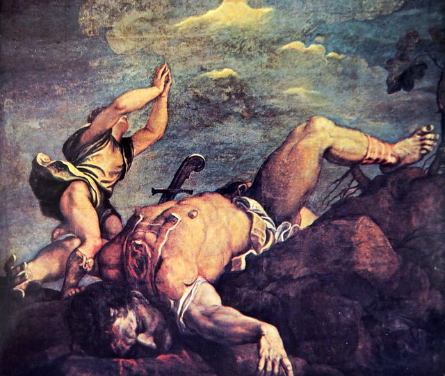 Tiziano. David y Goliat