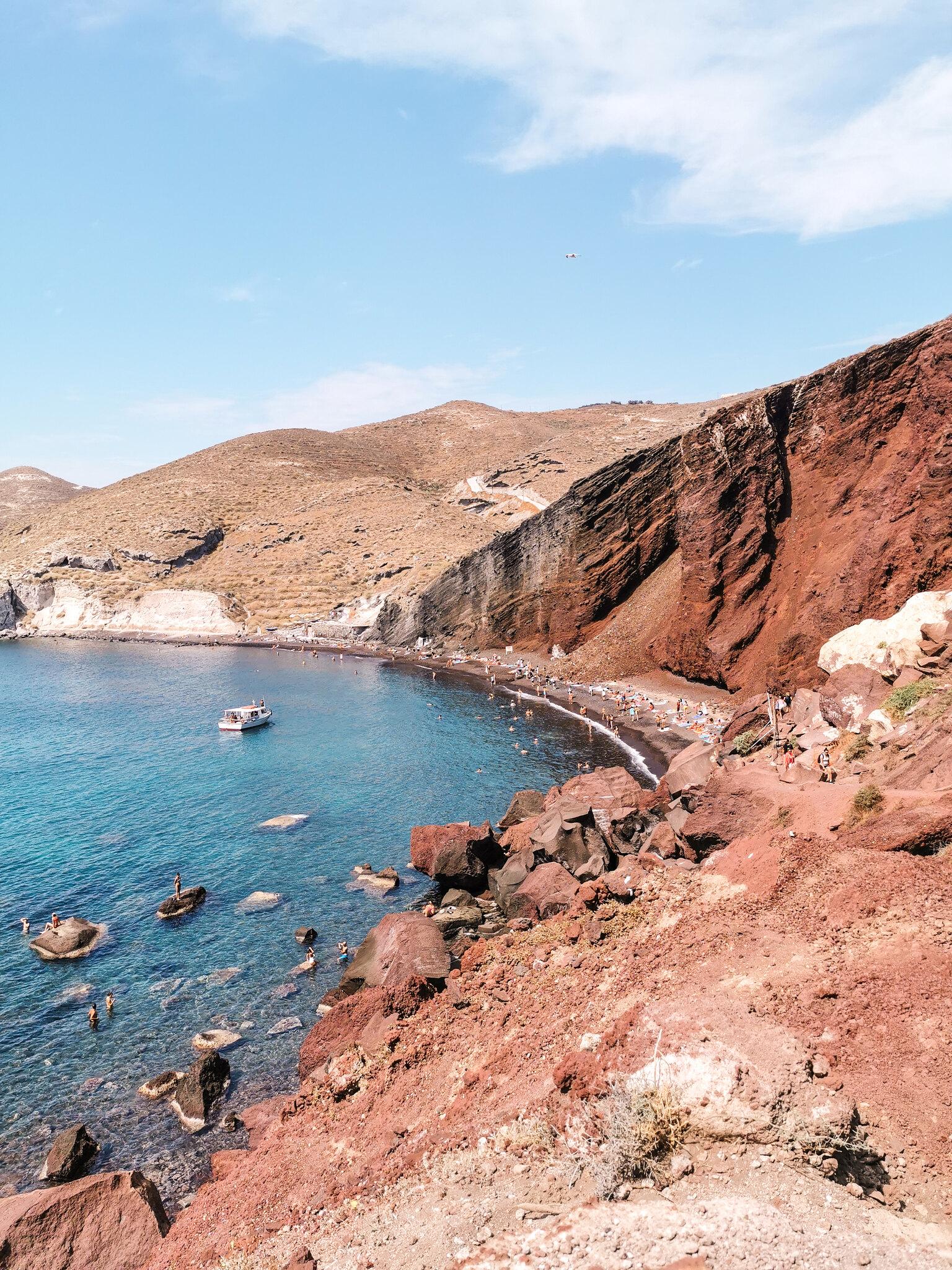 Santorini rannat