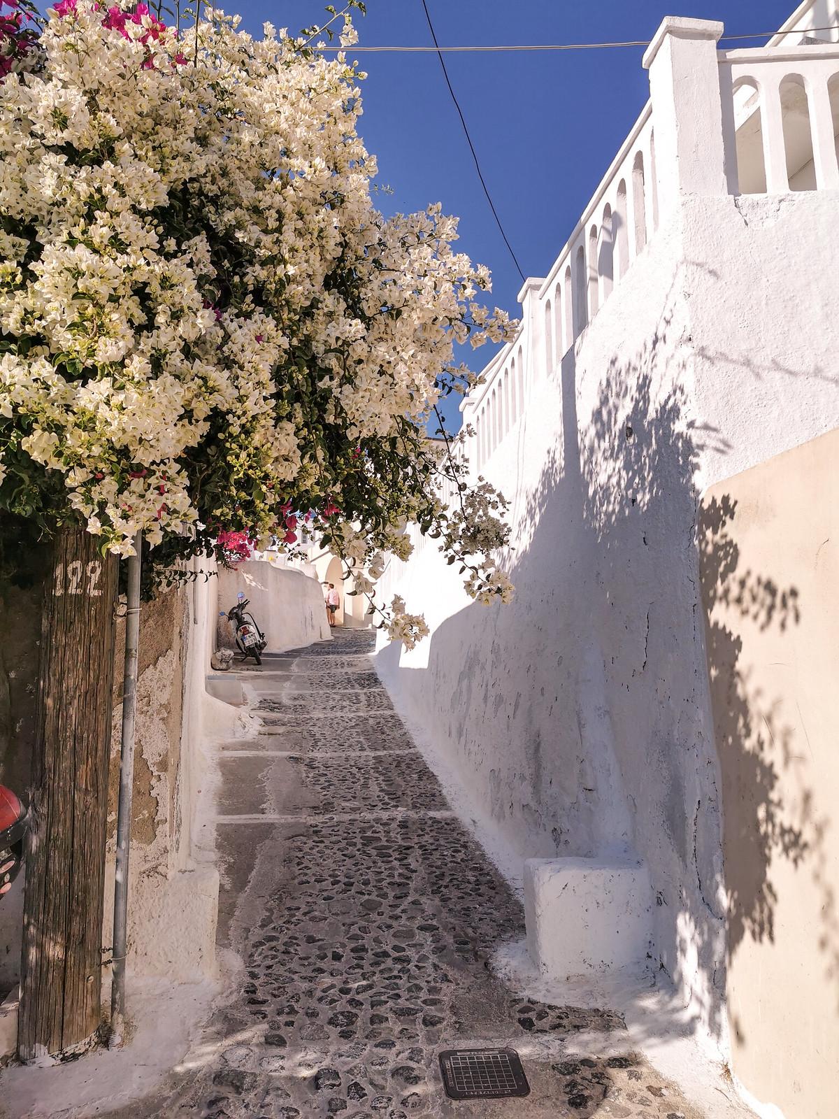 Matkapostaus Santorini