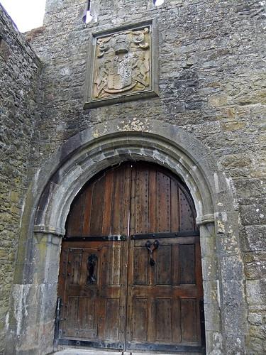 A door at Cahir Castle in Ireland