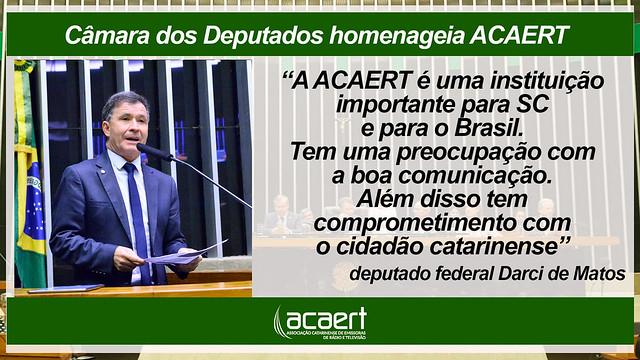 Parlamentares homenageiam ACAERT