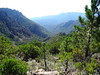 Redescente vers le Cavu : la vallée du Peralzone depuis Bocca di Monte Bracciutu