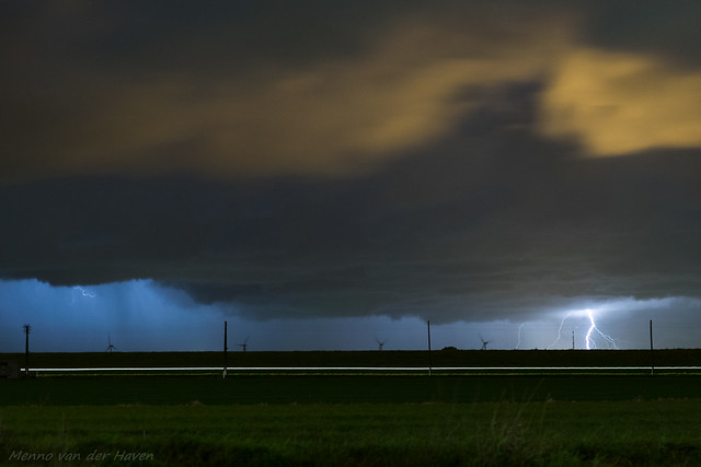 Distant Lightning from an Autumn Storm