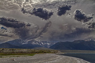 A storm brewing over the Mono Lake basin, eastern California