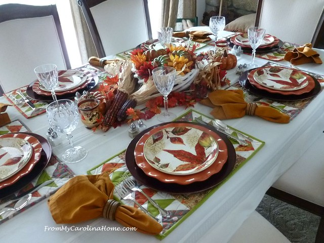 Autumn Jubilee Tablescape at FromMyCarolinaHome.com