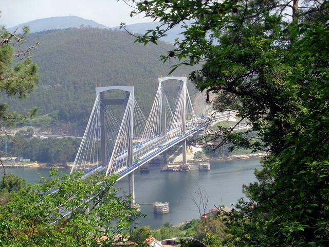 Bridge over Vigo Bay. Spain.