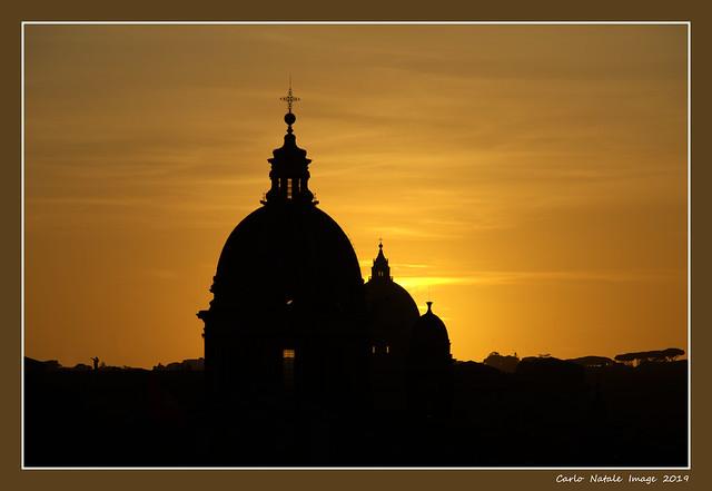 Sunset from Trinità dei Monti