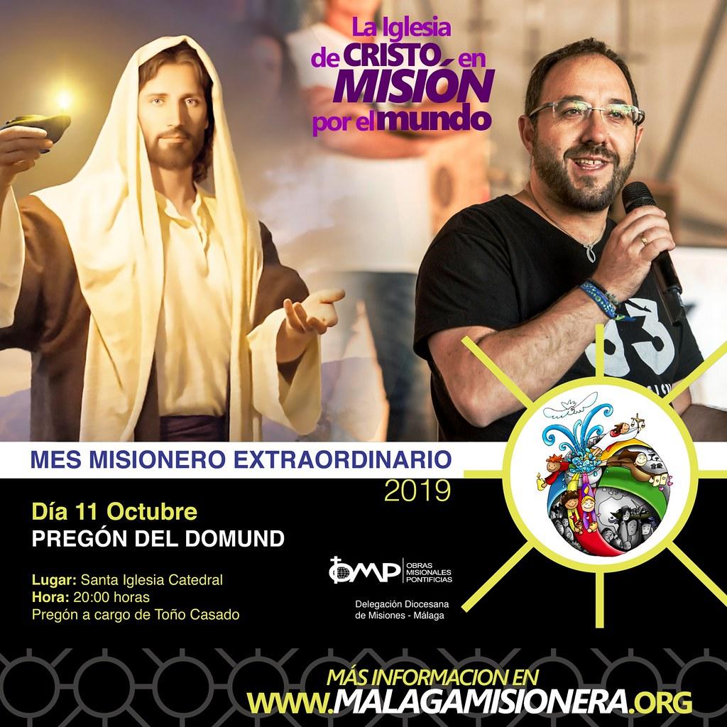 Pregón del DOMUND, el día 11 de octubre