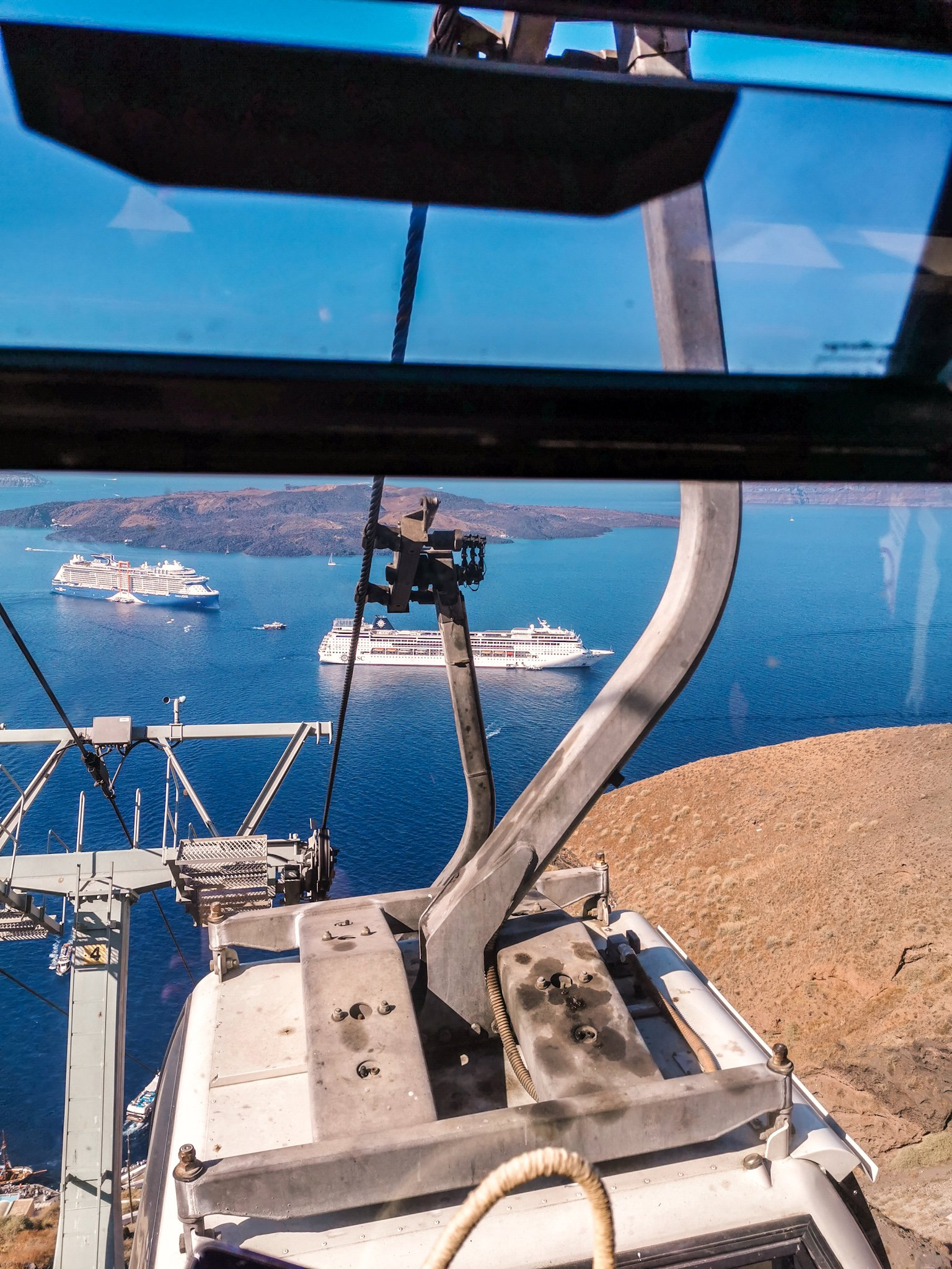 Cable Car Santorini