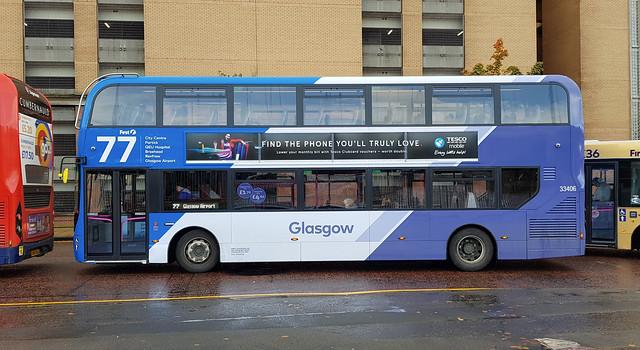 First Glasgow Alexander Dennis Enviro 400 MMC 33406