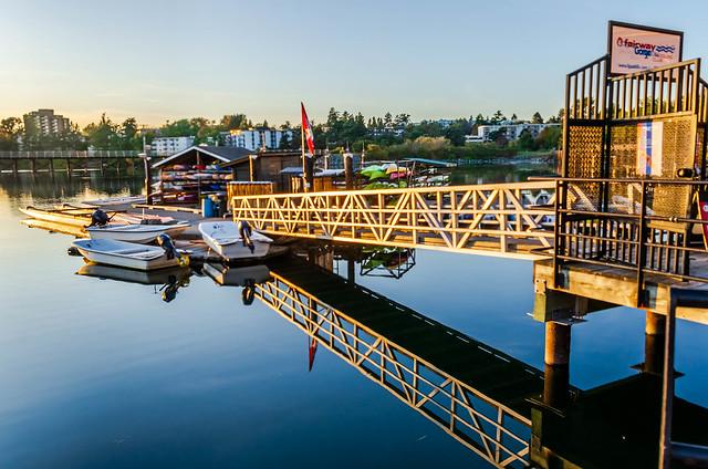 Paddling Club Dock at Dusk