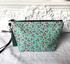 Cherry cosmetic bag https://etsy.me/2VFX9yV
