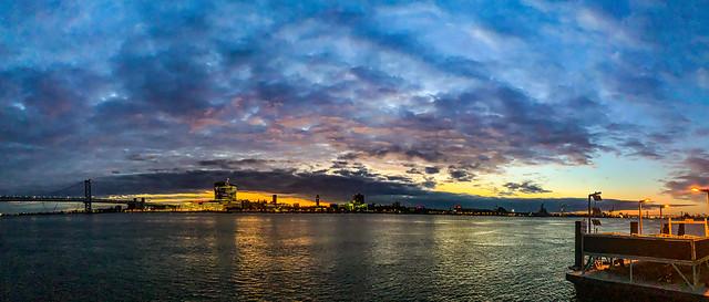 Penn's Landing Sunrise Pano
