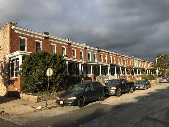 Rowhouses, 400 block of Ilchester Avenue (north side), Baltimore, MD 21218