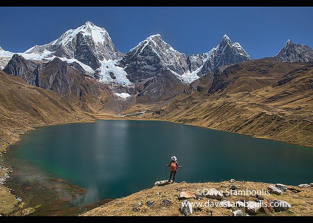 Incredible landscape beauty, Laguna Carhuacocha, Cordillera Huayhuash, Ancash, Peru