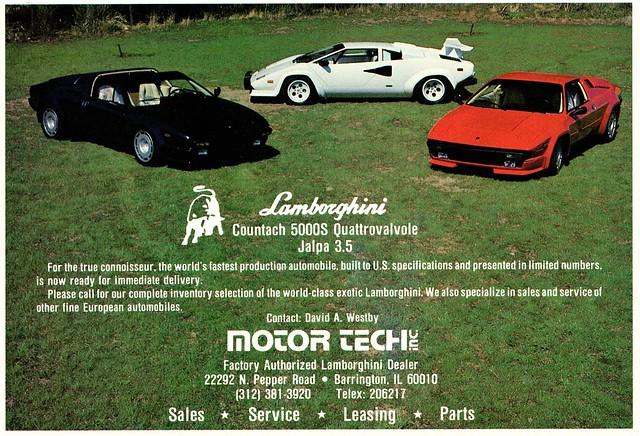 1986 Lamborghini Countach & Jalpa