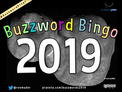 Buzzword Bingo 2019 (featuring image of Arrokoth)