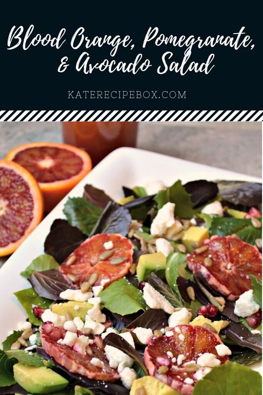 Blood Orange, Pomegranate, Avocado Salad
