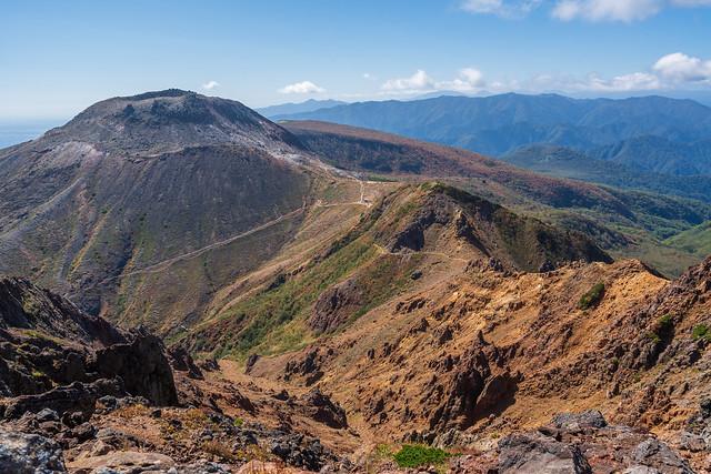 茶臼岳を展望@朝日岳