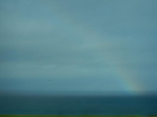 Smudgy rainbow in Bonamargy Friary in Ireland
