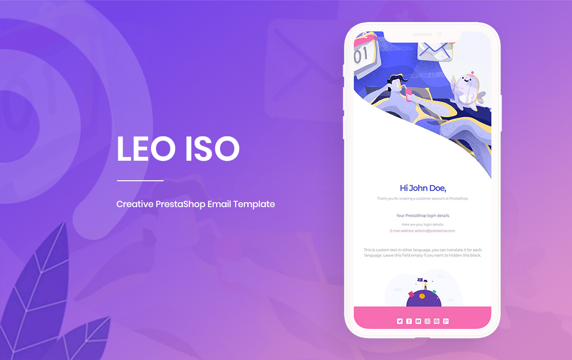 Leo Iso PrestaShop Email Template