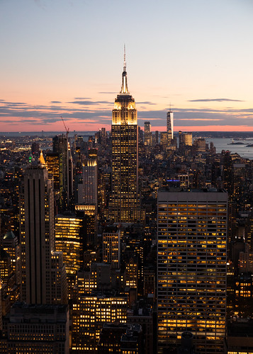 empirestatebuilding newyork night sunset sunrise city lights usa topoftherock canon canon5d eos