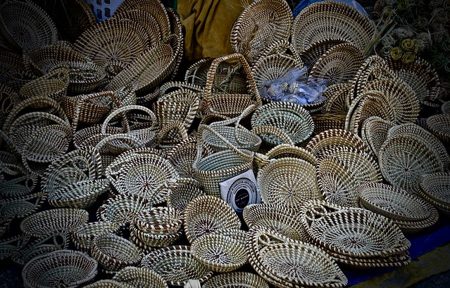 Sweetgrass Baskets - Charleston City Market - Charleston SC