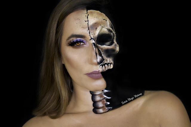 Glam Half Skull - Makeup