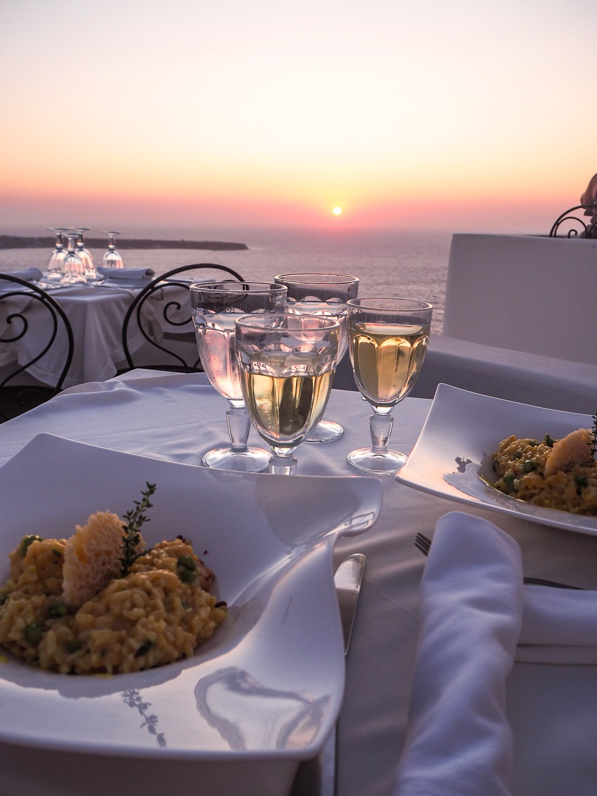 Sunset restaurant in Oia