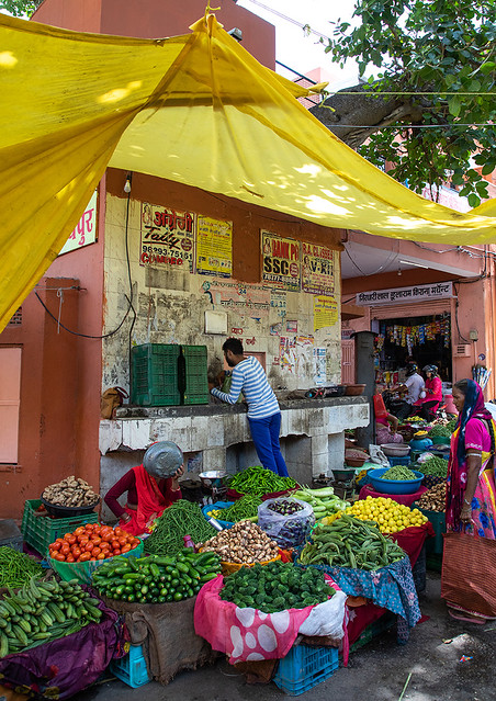 Vegetables and fruits market, Rajasthan, Jaipur, India
