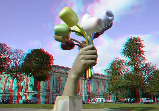 Petit Palais Paris Bouquet of Tulips by Jeff Koons 3D