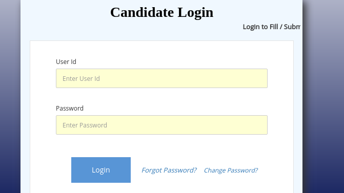 You can make login with the help of User ID and password