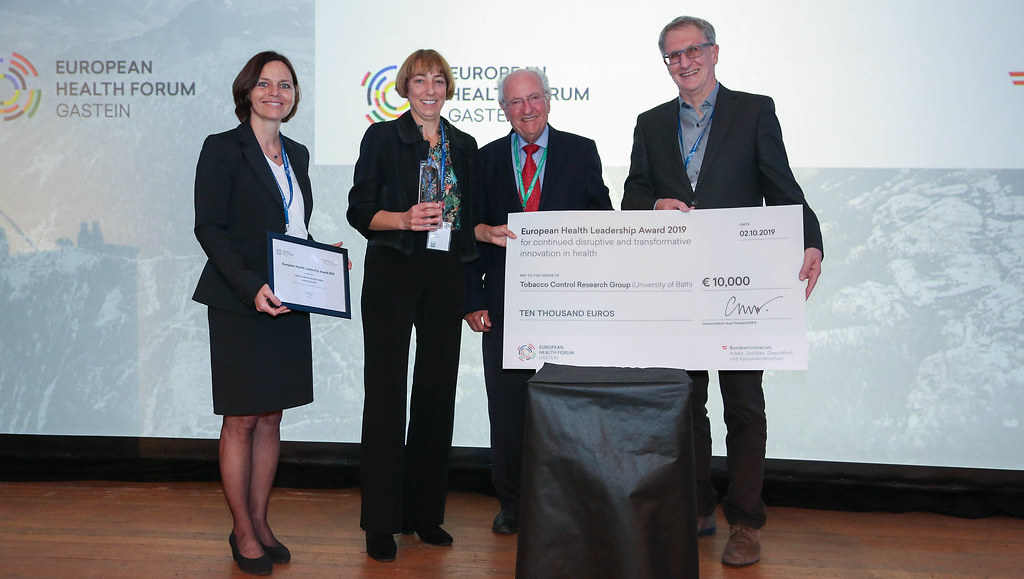 Anna Gilmore (second from left) receiving the European Health Award.