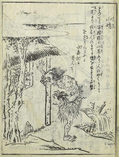 「山精」(さんせい), 鳥山石燕『今昔画図続百鬼』より