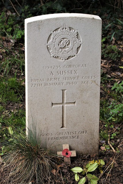 A. Sussex, Royal Army Service Corps, War Grave, 1940, Shenley