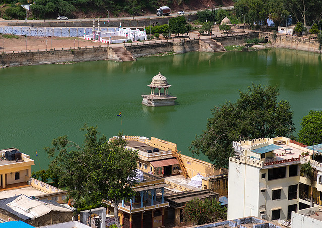 View on the lake from Taragarh fort, Rajasthan, Bundi, India