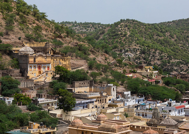 City view from Amer fort and palace, Rajasthan, Amer, India