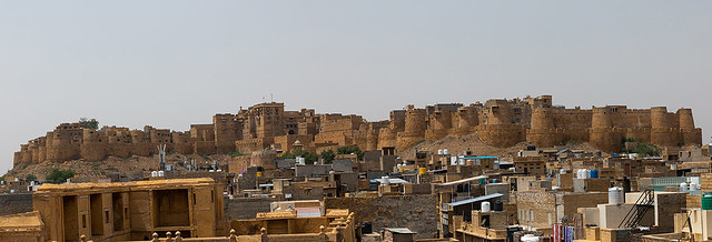 Panoramic view of Jaisalmer fort, Rajasthan, Jaisalmer, India
