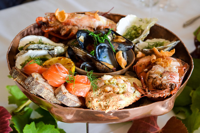 Seafood Platters at Squerryes Vineyard and Winery