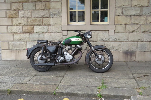 Panther Model 100, 600cc motorcycle, Ramsbottom Station, East Lancashire Railway. 6th July 2014. IMG_2167