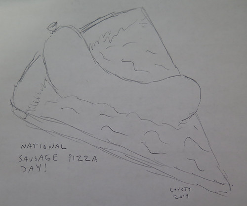 Inktober 11, 2019: National Sausage Pizza Day