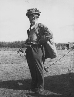 Sergeant S Bennett of the 1st British Parachute Brigade after crossing the Rhine after escaping from Arnhem on September 26th 1944.