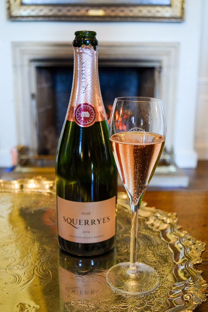 Sparkling Rose at Squerryes Vineyard and Winery