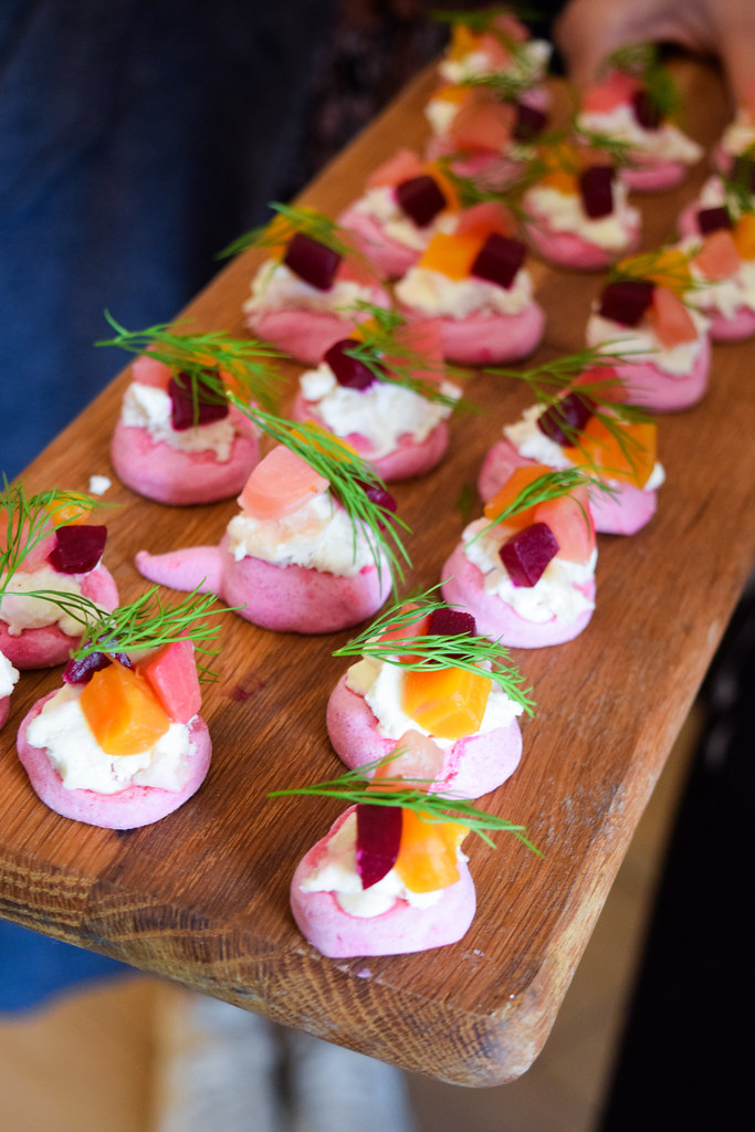 Estate Beetroot Canapes at Squerryes Vineyard and Winery