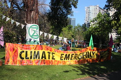 Climate Emergency banner - #XRMelbourne - IMG_5592